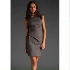 Theory Letin Wool Blend Ruched Dress